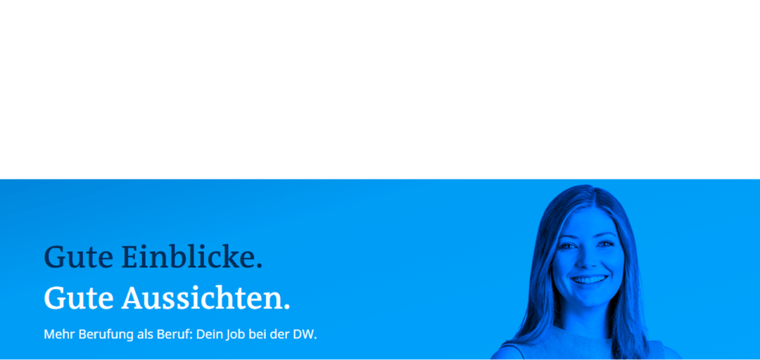 """Project Associate (gn) der Abteilungsleitung """"Policy and Learning"""" der DW Akademie"""
